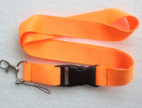 Free shipping 10 pcs orange Pure color Lanyard Neck Strap Lanyard WHOLESALE