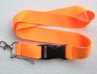 Free shipping 10 pcs orange Pure color Lanyard Neck Strap Lanyard WHOLESALE