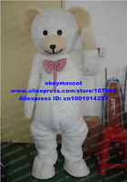 New Teddy Bear Mascot Costume Cartoon Character Mascotte Mascota Outfit Suit No.1028 Free Shipping