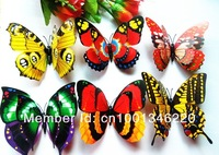 20 3D butterfly magnet room decorative decals size 12 cm