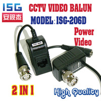 Free shipping CCTV BNC Video Power Balun UTP twisted pair Power Transceiver Video Balun 20pieces/lot