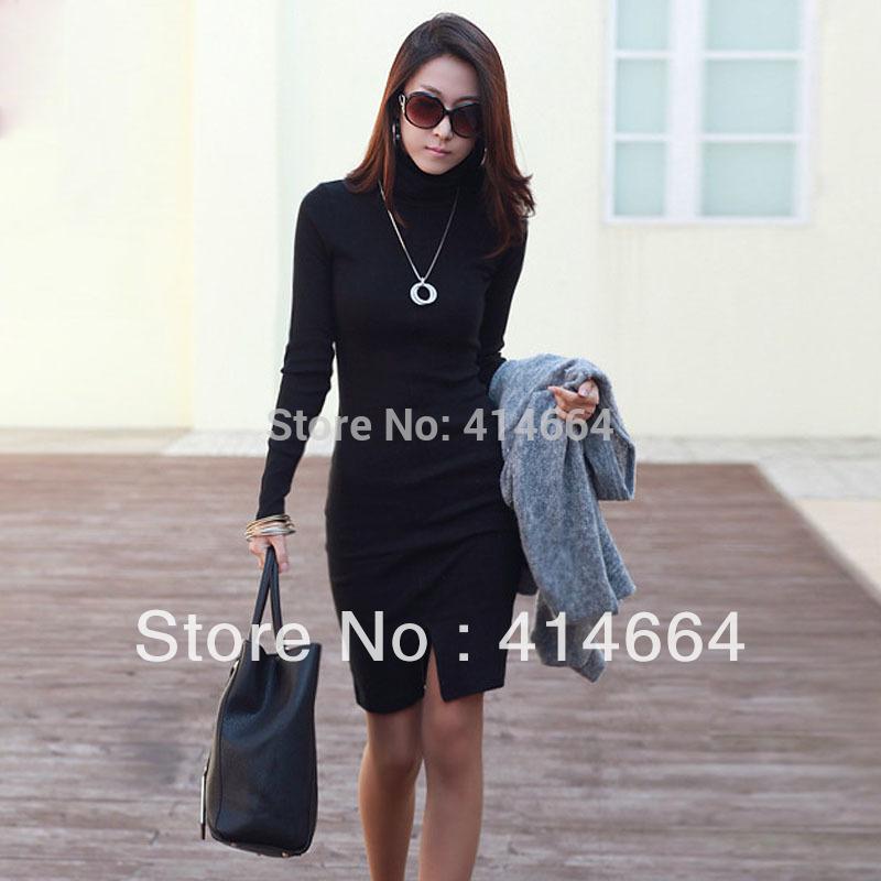 2013-new-women-s-turtleneck-long-sleeve-basic-skirt-women-skirt-winter ...