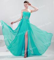 The Latest Prom Party Gown Brand New Designer Beautiful Women Long Split Formal Dinner Evening Dress Elegant