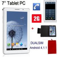 7 Inch Android 4.1.1 MTK6515 RAM 512MB ROM 2GB Dual SIM Card Dual Standby Dual Cameras WIFI FM Tablet PC CDA0824