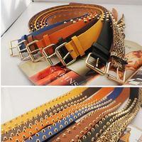 Women's belt non-mainstream strap personalized taper rivet belt general pin buckle strap hf33