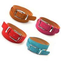 Fashion pigskin leopard print women's pin buckle strap veneer women's belt candy color hf562