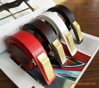 Beauty choihoo brief gold buckle women's thin belt strap 4