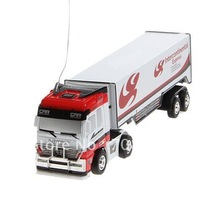 New!new Racing Container Truck with 27 MHz Remote Control Toy Gift for Children (White)