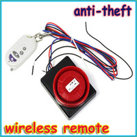 New Wireless Remote Control Safety Security Sensor Vibration Alarm Anti-Theft for Car Motorcycle Freeshipping