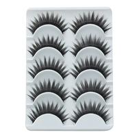 Very Beautiful Eyelashes 5 Pairs/Lot Thick Eyelashes Individual False Eyelashes Give Glue For Lashes As A Present