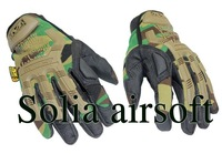 10 pairs Mechanix M-Pact Tactical Airsoft Bike Full Finger Gloves Camouflage