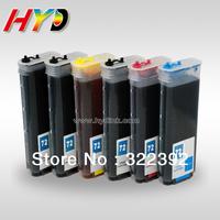 (6 pieces/set) 260ml Empty No. 72 refillable ink cartridges for HP Designjet T1100/T1120/T1200/T2300/T610/T620/T770/T790/T1300