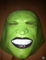 Best Quality Best Price-Adult-Free Shipping-Latex The Hulk Green Head Mask For Halloween Birthday And Cosplay Party Wholesale