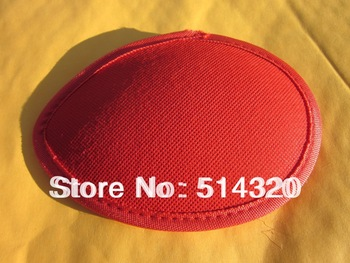 B010 Red TearDrop Millinery Hat Fascinator and Headpieces Base with Piping DIY Craft 5.5""
