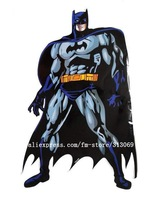 "Free shipping by DHL ,giant size 31""*21"", batman  Wall Stickers, cartoon stickers,wholesale 20pcs/lot"