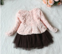 Free Shipping  2013 new winter models female children's clothing children's hair long paragraph sweater wool sweater