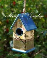 For dec  oration rustic glaze vintage ceramic bird house -