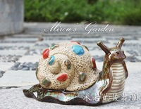 Pool fashion ceramic rustic flowerier snail
