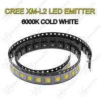 5pcs/lot New CREE XM-L2 LED Bulb L2 LED Emitter Light Bulb 6000K Cold White LED Bin Chip