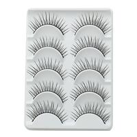 Wholesale False Eyelashes Individual Makeup Synthetic Eyelashes 5 Pairs/Lot Include Glue For Lashes Professional Long Eyelashes