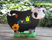 Meters fashion cow small blackboard message board door plate