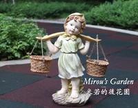 For dec  oration decoration gift light color rustic little girl