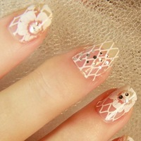 Hot Sale 3 D Crystal Nail Art Sticker Decal Manicure Tip.4.16352. French Style Nail Art Decoration Free Shipping