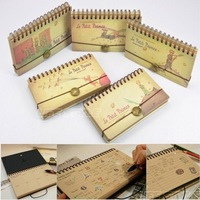 Cartoon vintage 2014 calendar cowhide paper notepad notebook tsmip