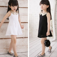Russian special line 5pcs/lot 2013 summer female child paillette laciness one-piece dress child dress Free shipping