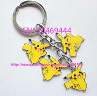 Wholesale - brand new 20 pcs Pocket  Pikachu Key Chains Popular Key Ring  Key Chain