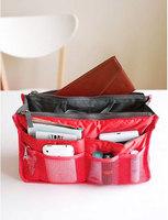 Dual Zipper Portable Multifunction Thicken Storage Bag Case Holder Red