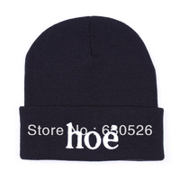 Free shipping 12pcs/lot Hoe BeanieHoe Hats  black grey white  fashion  Beanie   men beanie