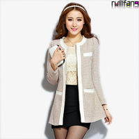 2013 autumn and winter wool coat o-neck slim medium-long outerwear woolen overcoat Woolen Coat women outerwear rlf9855