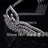 New 2014 Wholesale Rhinestone Tiara Heart Style Tiara Birthday Crown & Tiaras Christmas Tiara