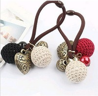 Min order is $9  Yeh vintage decorative pattern of the love yarn ball hair hair rope