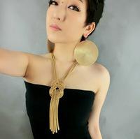 Min order is $9Fashion vintage star spirally-wound long tassel necklace XL 472