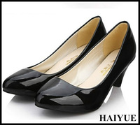 2013 New Fashion fine with Heels Four Seasons Wild new Patent Leather Pointed Shoes