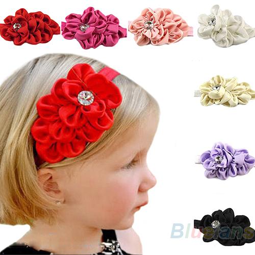 Baby Girls Chiffon Headband Hairbow Hairband Head Hair Band Flower Take Photo Beauty Accessories hot Selling Wholesale 1NZY(China (Mainland))