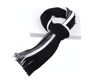 Free shipping--Korean mixed colors striped knit cotton casual men's scarves