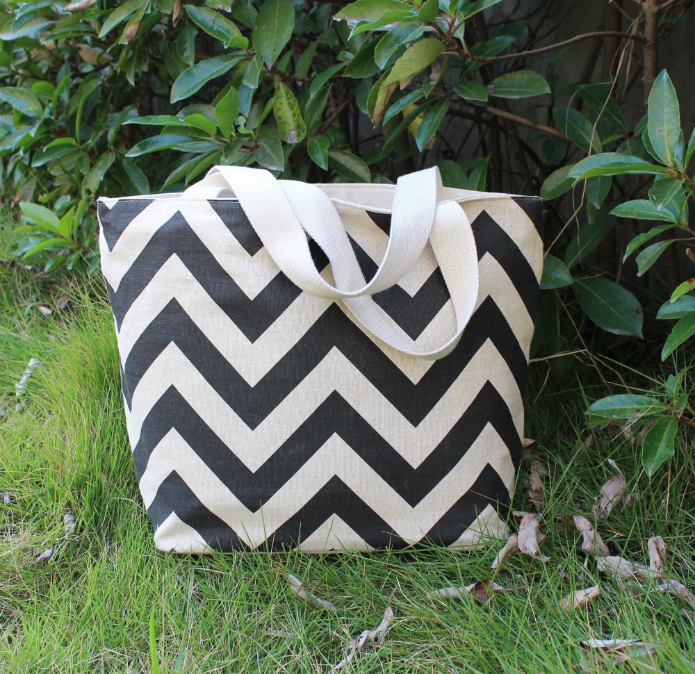 free shipping wholesale fashion ladies handbag tote bag shopping bag shoulder bag cotton linen abstract print