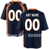 Free Shipping Wholesale Men's Denver  Customized game Jersey - American Football Jersey mixed order