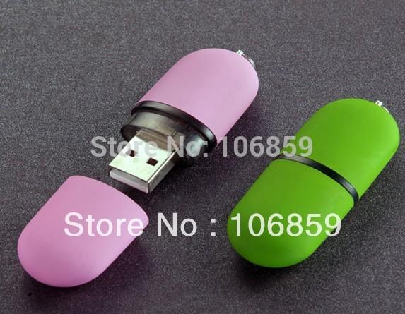 Plastic USB Flash Drive Color Promotion Gift USB 8GB 4GB 2GB Real Capacity Free Shipping(China (Mainland))