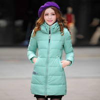 Winter women's 2013 medium-long down coat outerwear double layer zipper slim down coat female
