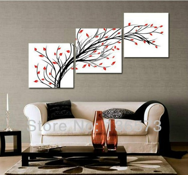 wall art set modern oil paintings flowers living room wall pictures