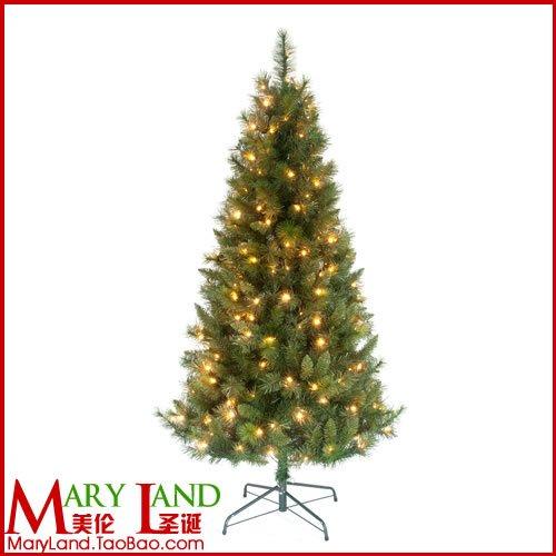 Maryland mignon 180cm led lighting pvc pine needles artificial tree christmas tree(China (Mainland))