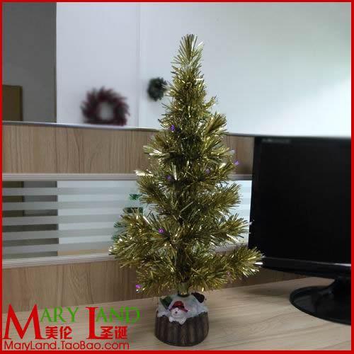Mignon Christmas commodity desktop countertop decorations small fiber optic christmas tree(China (Mainland))