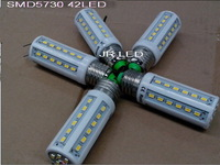 2pcsX 110V E27/(E14/B22 Can choose) 5730 Chip 42leds 12W High Power LEDcorn light , Warm White/ White Free shipping