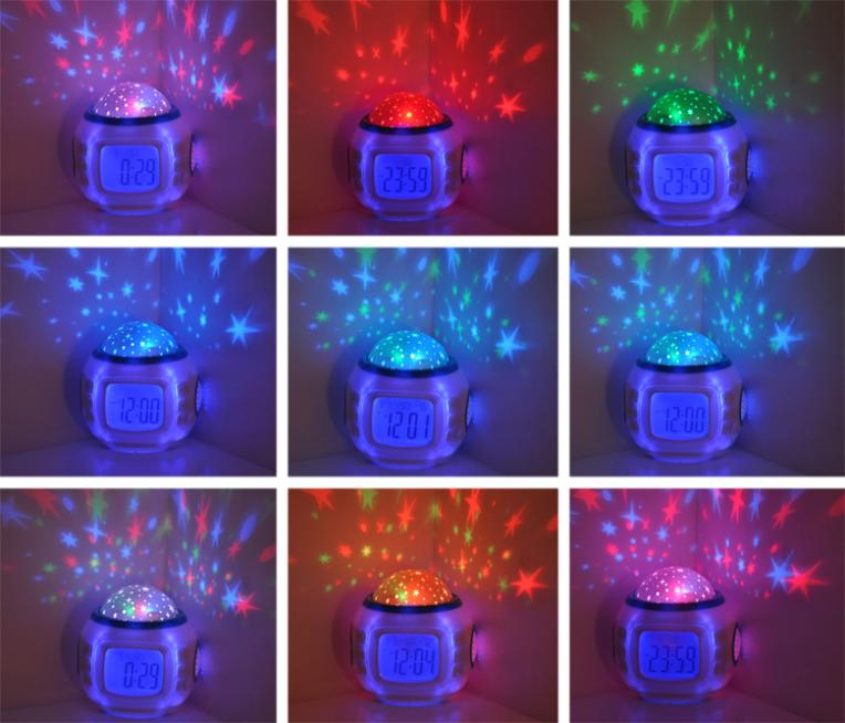 "1PC Sky Star Night Light Projector Lamp Alarm Clock W/music 10.3x10.3cm(4""x4"")(China (Mainland))"