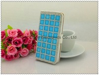 Luxuriant diamond wallet filp leather dirt-resistant case for iphone 5 5G~10pcs/lot