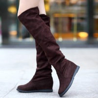 Free shipping boots Woman, Boots for women, Sexy Inside Heel Solid Over Knee Length High Boots Winter New flat shoes Plus size